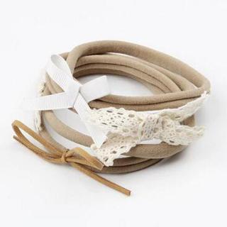 on sale 4pcs/set baby girl boy spandex nylon headband children skinny stretchy Non-Marking Lace Bo