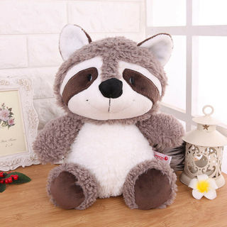 Lovely big tail Gray Raccoon plush doll Stuffed Animal soft toys 25 cm