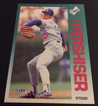 Free 1992 Fleer Baseball Card 459 Orel Hershiser Sports