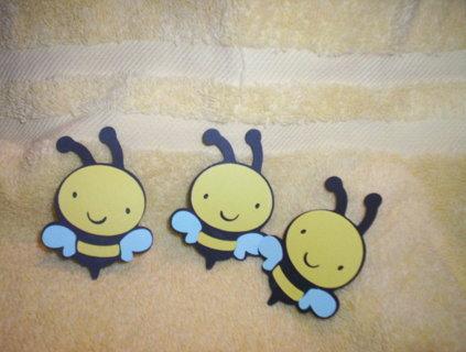 Free 3 Bumble Bee Scrapbook Paper Pieces Scrapbooking Paper