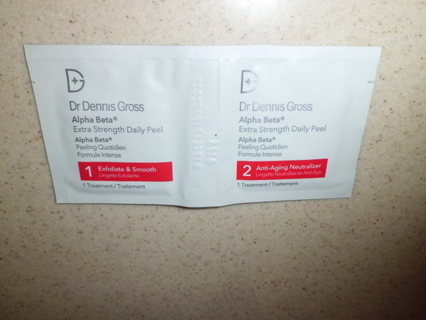 NEW UNUSED 2 DR DENNIS GROSS ALPHA BETA XTRA STRENGTH DAILY PEEL FREE SHIPPING!!