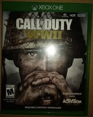 Call of Dity WWII XBOX ONE game