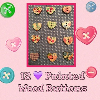 12  wood buttons