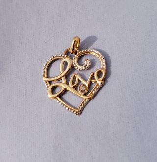10K Gold & Diamond LOVE Pendant by Jacmel Jewelry (Makes Hallmark & Disney pieces)