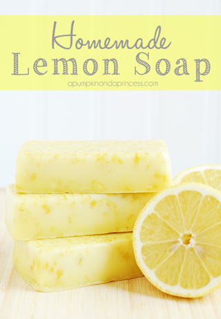 HOMEMADE LEMON SOAP RECIPE