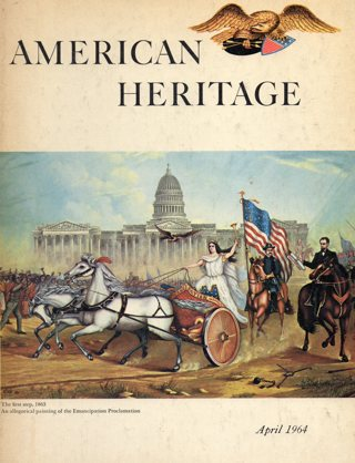 Vintage American Heritage Hard Covered Book: April 1964