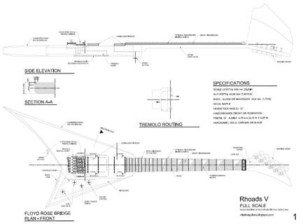 Free: Randy Rhoads V Style Guitar Templates - Instruments ...