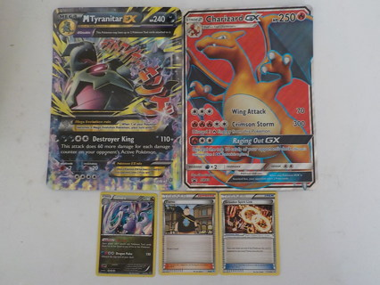 POKEMON TRADING CARD LOT MEGA CARDS (2)
