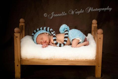 Free  Newborn Long Tail Hat and Diaper cover crochet pattern ... c22721b5bec