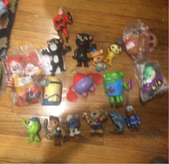 Toy junk drawer lot figures