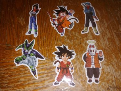 DRAGONBALL Z ⚡SET OF 6 STICKERS ⭐ WINNER TAKE ALL ⭐ FREE $HIPPING