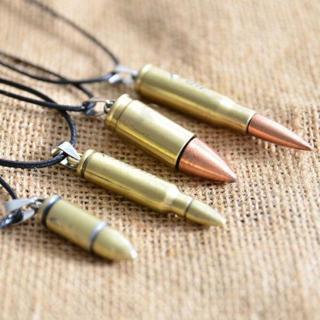 Unisex Bullet Necklace Statement Bib Pendant Chain Cool Charm Jewelry