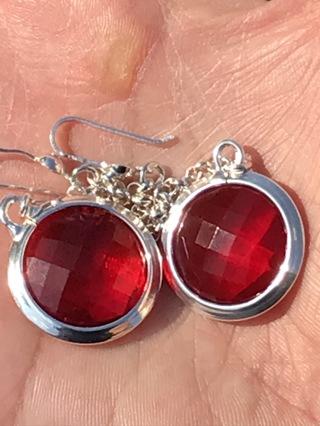 Vintage 925 sterling silver earrings very Beautiful