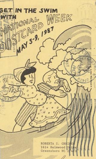 Vintage Used Postcard: 1987 National Postcard Week