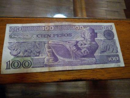 1982 mexico 100 peso note