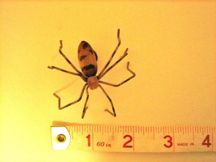Wooden Spider Brooch/Pin - Costume Jewelry