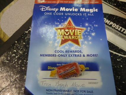 Disney Movie Reward Code for   TEEN BEACH MOVIE