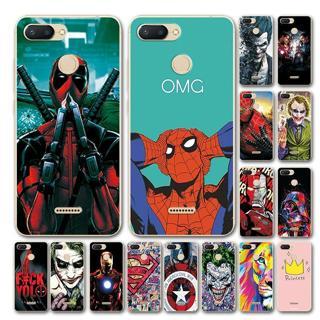 YOUVEI Novelty Superhero Phone Case For Xiaomi Redmi 6 Cover Redmi 6A Marvel Avengers Silicone Cas