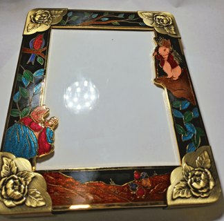 Cloisonne Picture Frames WHITE OR BLACK NWT