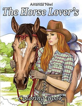 NEW The Horse Lover's Coloring Book FREE SHIPPING