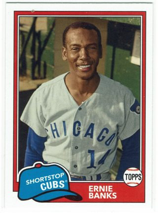 Ernie Banks 2018 Topps Archives Chicago Cubs