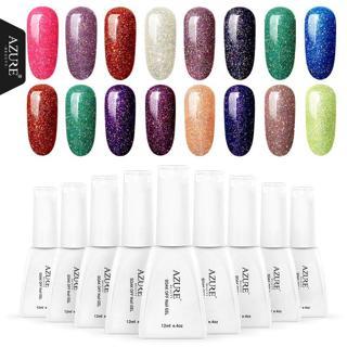 Azure Beauty Colorful Neon Nail Gel Soak Off UV Gel Polish With DIY Nail Art UV Gel Polish Lacquer