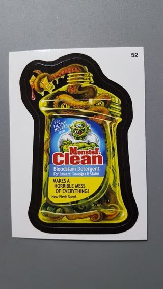 2015 Topps Wacky Packages • Card #52 • Monster Clean • See Photos