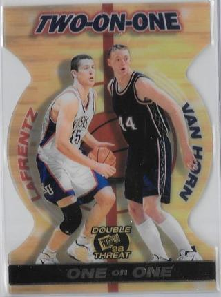1998 Press Pass Double Threat Two-On-One ~ Raef LaFrentz / Keith Van Horn