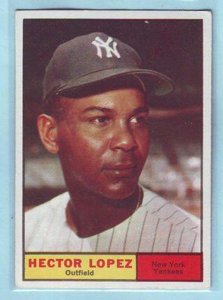 1961 Topps  Hector Lopez Baseball Card # 28 Yankees