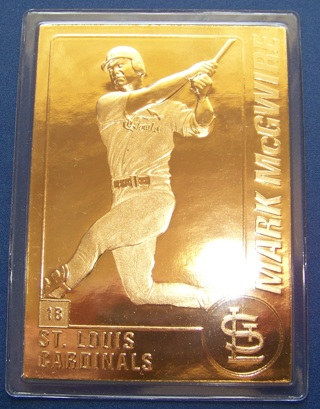 Free The Danbury Mint 22kt Gold Mark Mcgwire Cardinals