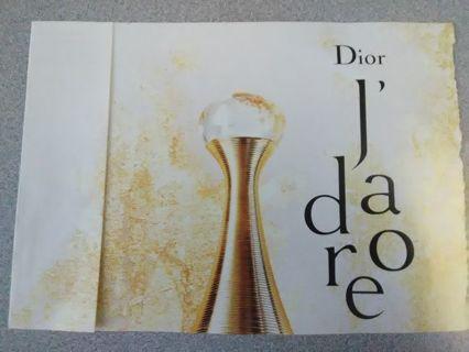 Dior Fragrance Sample