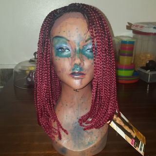 Braided lace front wig. New.
