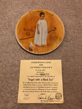 """Angel with a Black Eye"" Decorative Plate"