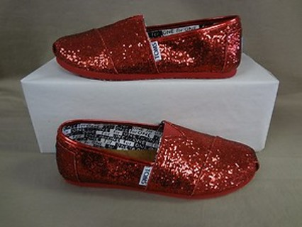 fc79a81d321 Free  Red Glitter Toms Womens Size 7- 7 1 2 - Shoes - Listia.com ...