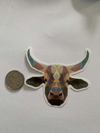 Kaleidoscope Bull Sticker