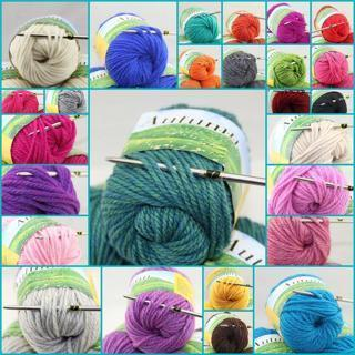 [GIN FOR FREE SHIPPING] 1 Ball X 50gr Chunky Thick Soft Warm Wool Hand Knitting Solid Yarn