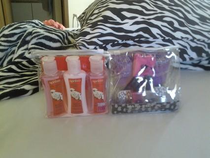 April Bath & Body Gift Set  And  LuLu Mani-Pedi Set BNIP