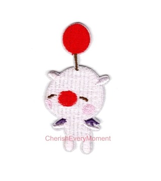 NEW Final Fantasy Moogle Embroidered Iron-On Patch