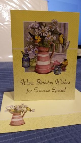 WARM BIRTHDAY WISHES FOR SOMEONE SPECIAL CARD W/ MATCHING ENVELOPE