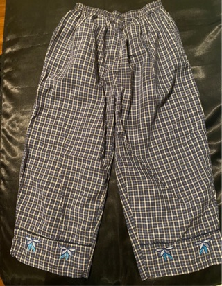 Blue Plaid Capri Pants Size S/M