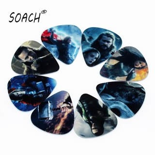 SOACH 10PCS 1.0mm high quality guitar picks two side pick Musical instruments paddle earrings DIY