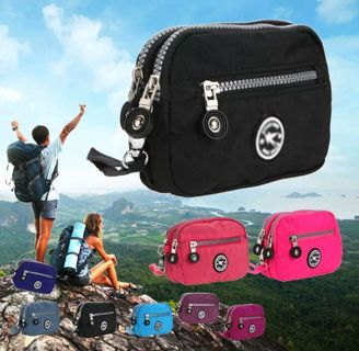 Women Waterproof Clutch Handbag Purse Nylon Purse Phone Coin Bag Satchel