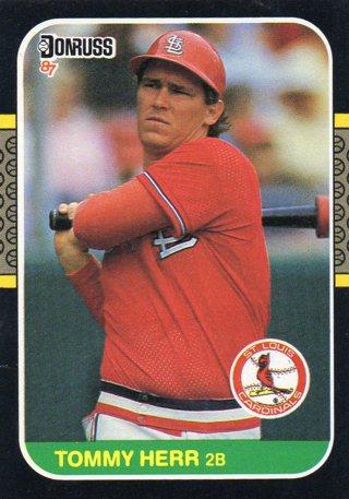 Free 1986 Donrussleaf Baseball Cardcardinals Tommy Herr Sports