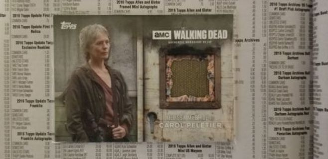 AMC'S THE WALKING DEAD - SEASON 6 CAROL PELETIER SCREEN - WORN JACKET RELIC CARD