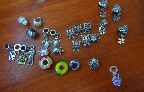 25+ dangles and charms