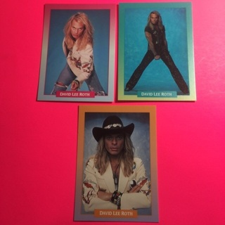 3 David Lee Roth 1991 Cards!