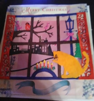 """"""" Country Merry Christmas"""" New Design Blank Card With Envelope"""
