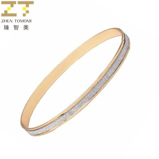 1 Pcs Hot New Fashion Frosted Matte stickers Bracelets Silver Plated Charm Cuff Circle Bangles Metal