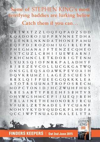 1 Stephen King/Horror Icons Word Search (1 sheet)