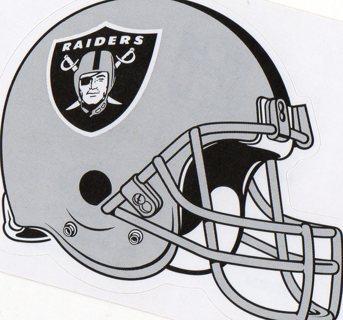 2017 NFL 4x3 Team Helmet Sticker: Oakland Raiders